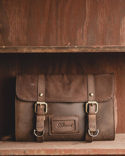 Ashwood Wash Bag 7010 Front On Wooden Shelf