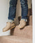 Shepherd Mens sheepskin slippers ANTON Stone model walking downstairs