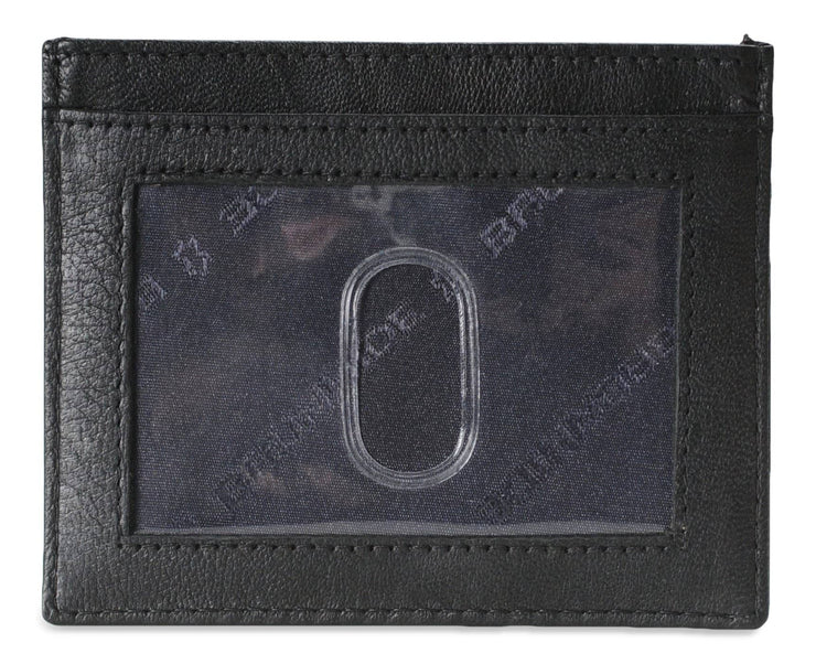 Mens Brunhide leather card holder wallet with plastic ID 254-300 Teal back