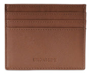 Mens Brunhide leather card holder wallet with plastic ID 254-300 Navy front
