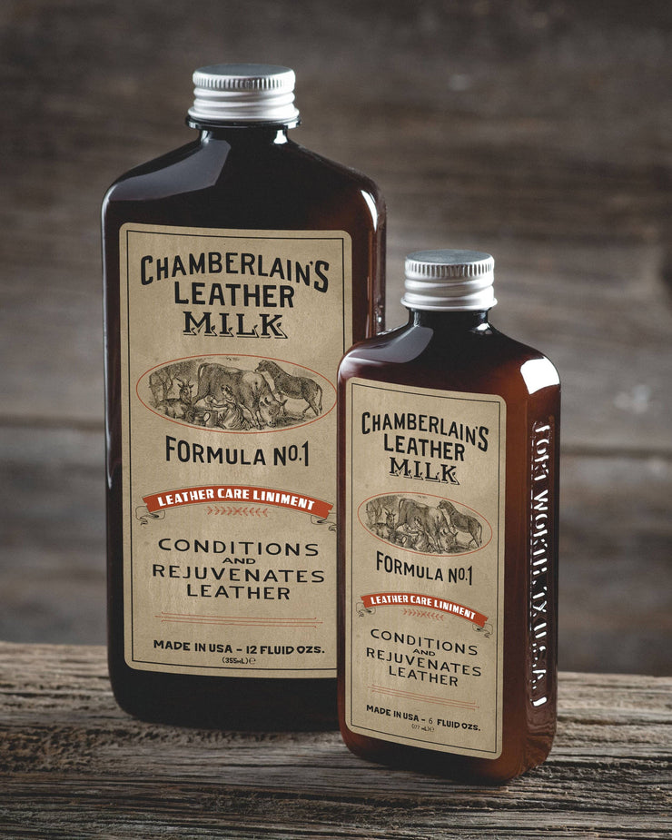 Chamberlins Leather Milk Lintment 1 both size bottles