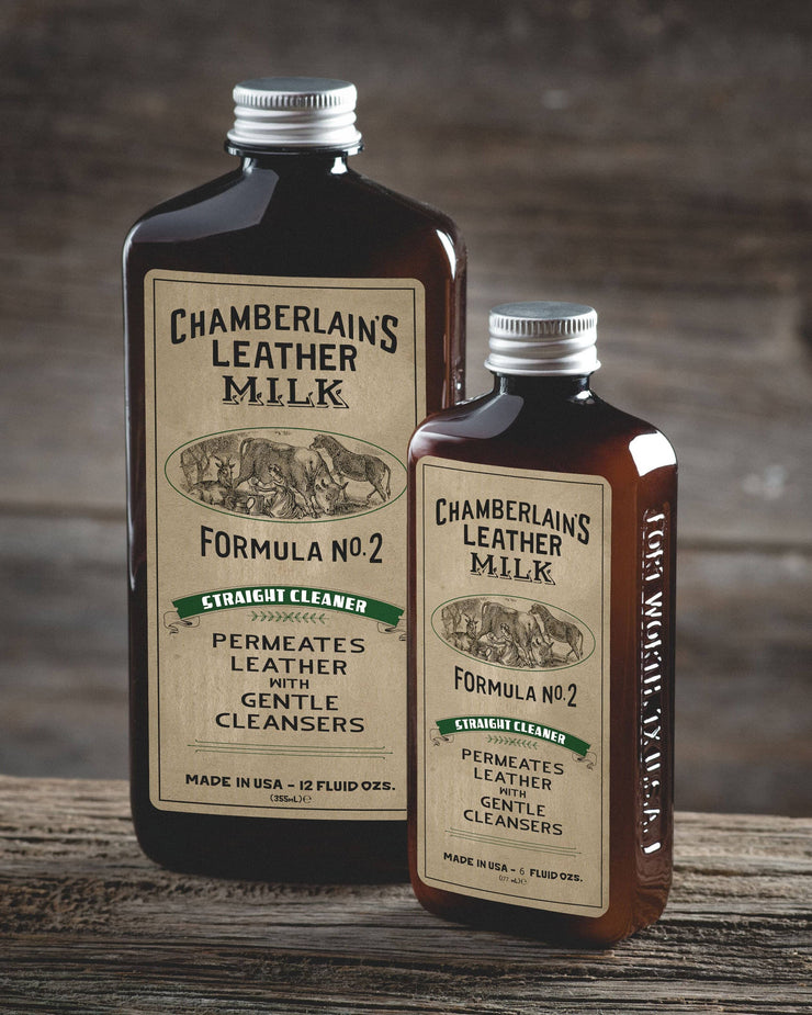 Chamberlins Leather Milk Lintment 2 both size bottles
