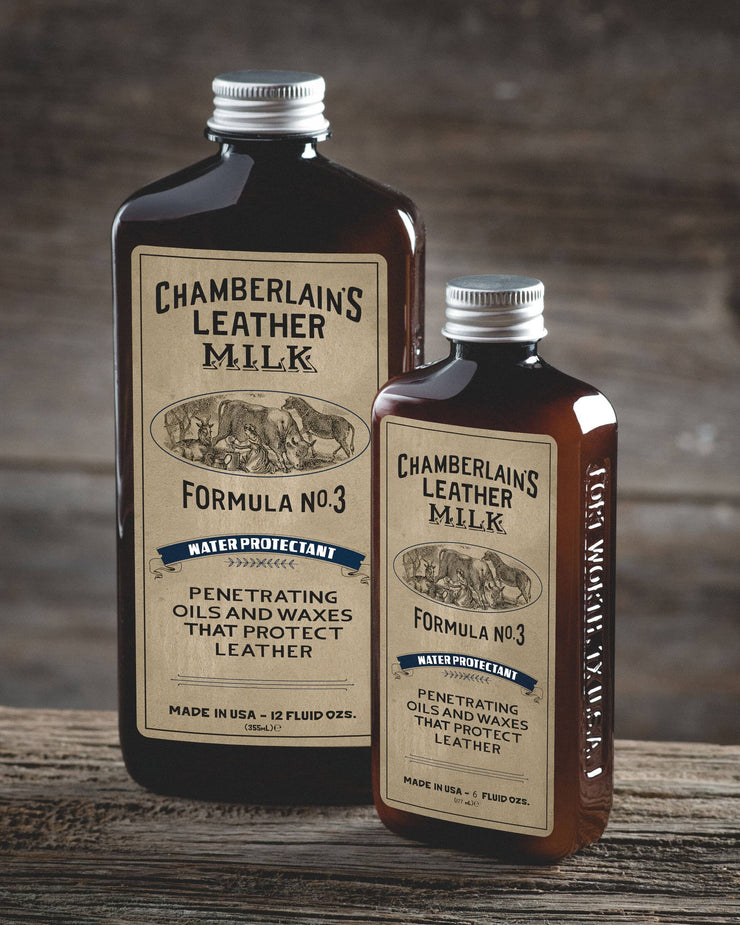 Chamberlins Leather Milk Lintment 3 both size bottles