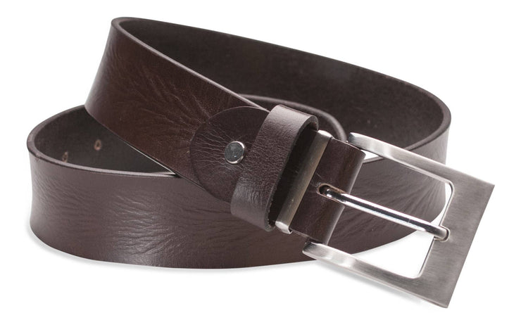 Hawkdale mens full grain leather belt  8R-F01 8R-F11 chocolate