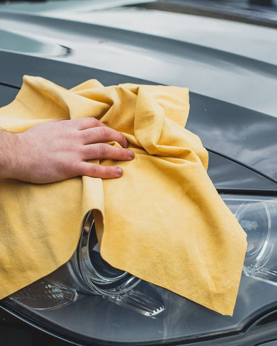 Nordvek chamois wash cloth with hand rubbing car 101-100