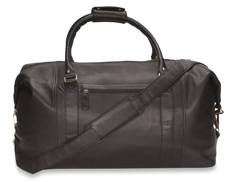 Nordvek holdall brown front with strap 202-100
