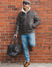 Premium Leather Holdall - Suitable For Hand Baggage - Lightweight But Durable