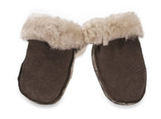 Nordvek sheepskin kids puddy mittens choc without ribbon 303-100