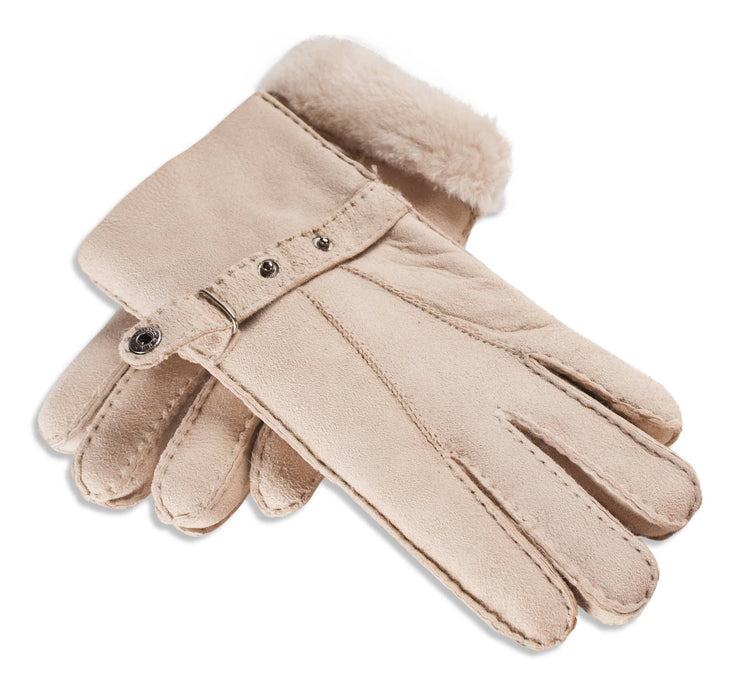 Ladies Nordvek sheepskin gloves 307-100 beige overlap