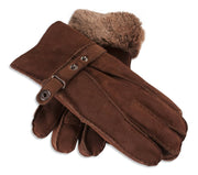 Ladies Nordvek sheepskin gloves 307-100 brown overlap