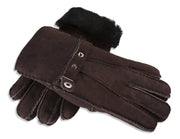 Ladies Nordvek sheepskin gloves 307-100 chocolate overlap
