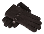 Ladies Nordvek sheepskin gloves 307-100 dark chocolate overlap