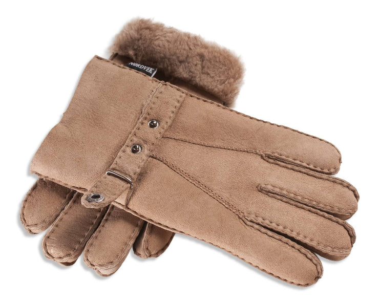 Ladies Nordvek sheepskin gloves 307-100 natural overlap