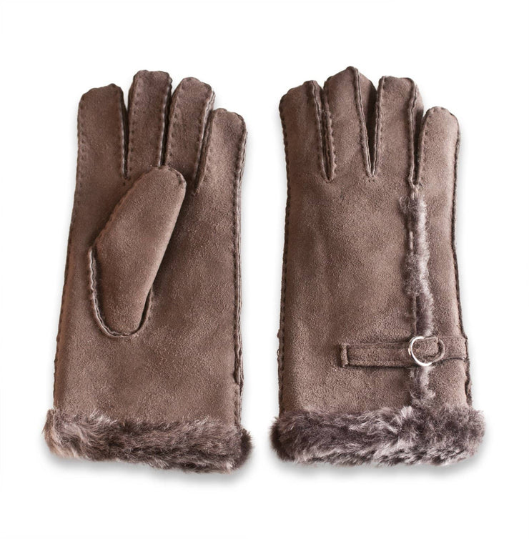 Nordvek womens sheepskin gloves 310-100 stone side by side