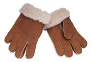 Nordvek childrens sheepskin gloves 313-100 chestnut pair