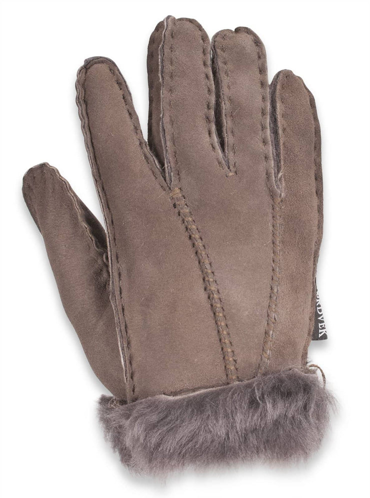 Nordvek childrens sheepskin gloves 313-100 Stone back of hand