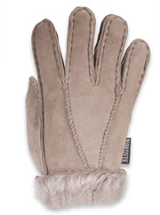 Nordvek childrens sheepskin gloves 313-100 venetian Grey back of hand