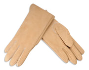 Womens Sheepskin Suede Gloves - Half Pique Seam