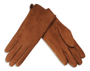 Nordvek womens sheepkskin gloves 319-100 brown Pair