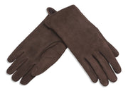 Nordvek womens sheepkskin gloves 319-100 chocolate pair