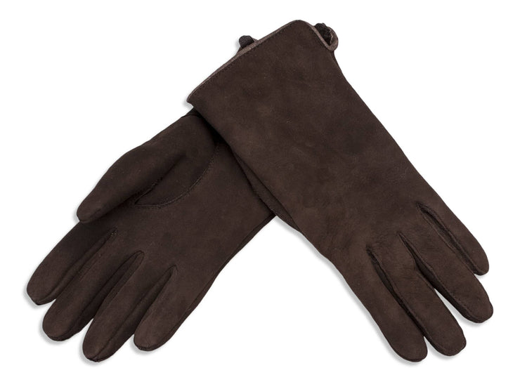 Nordvek womens sheepkskin gloves 319-100 dark chocolate pack