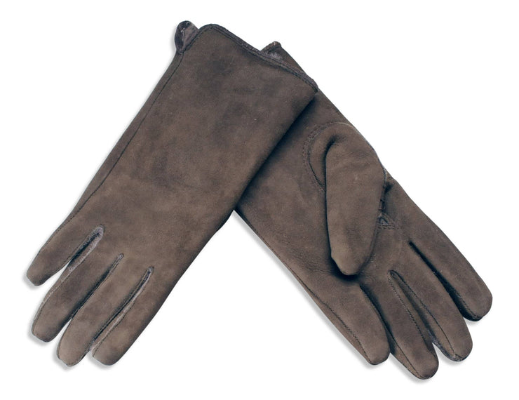 Nordvek womens sheepkskin gloves 319-stone brown pair