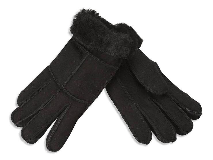 Nordvek womens sheepskin gloves black pair 321-100