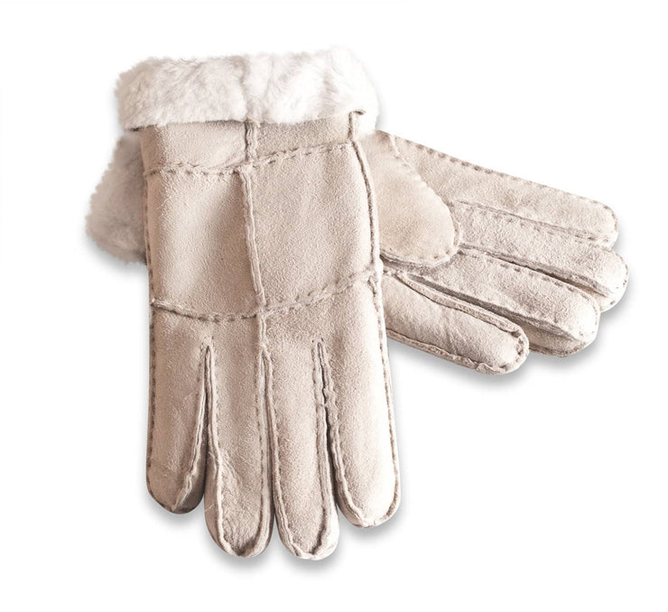 Nordvek womens sheepskin gloves beige pair 321-100