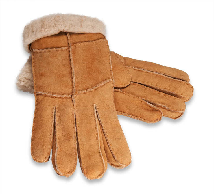 Nordvek womens sheepskin gloves butterscotch pair  321-100