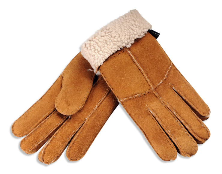Nordvek womens sheepskin gloves chestnut palm 321-100