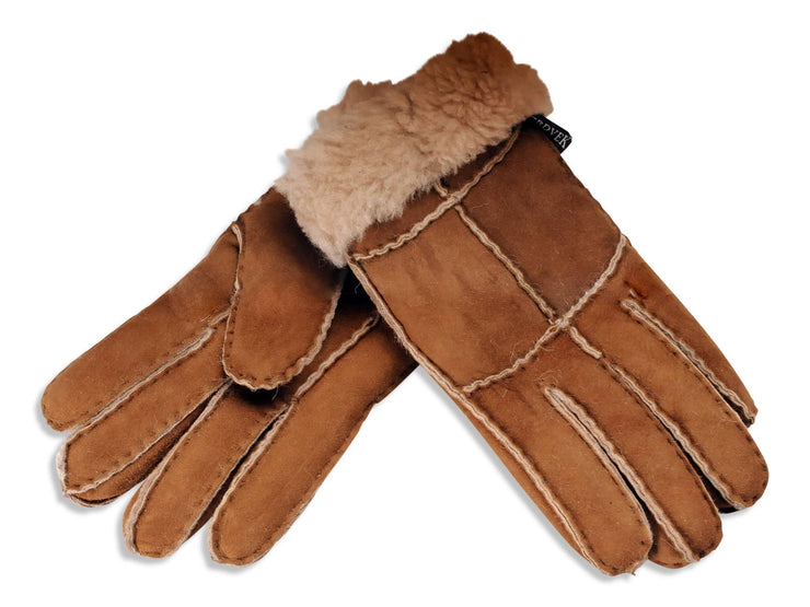 Nordvek womens sheepskin gloves cinnamon pair 321-100