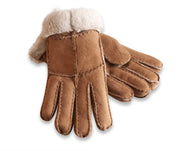 Nordvek womens sheepskin gloves tan pair 321-100