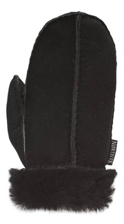Nordvek childrens sheepskin mittens 325-100 black back of hand