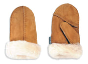 Nordvek childrens sheepskin mittens 325-100 chestnut pair