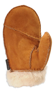 Nordvek childrens sheepskin mittens 325-100 chestnut palm