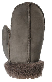Nordvek childrens sheepskin mittens 325-100 slate back of hand