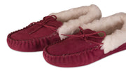 Nordvek womens moccasins soft sole  418-100 red pair