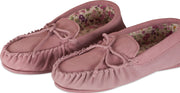 Nordvek womens moccasins hard sole  419-100 pink pair