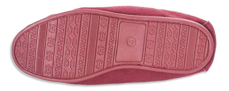 Nordvek womens moccasins hard sole  419-100 red sole