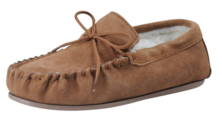 Nordvek womens moccasins hard sole  430-100 chestnut angle