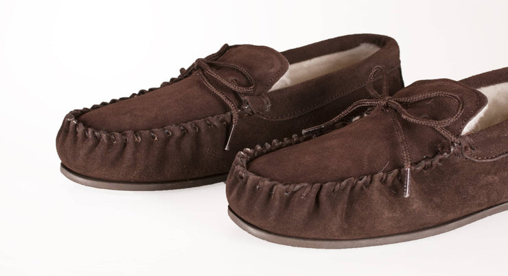Nordvek womens moccasins hard sole  430-100 chocolate sole