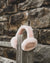 Nordvek kids sheepskin earmuffs 512-100 pink on fence front