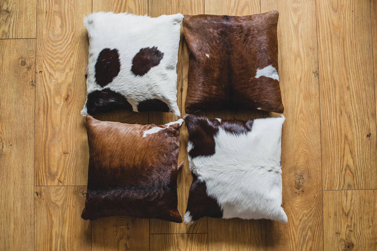 Cowhide Cushion Square - Multiple Sizes