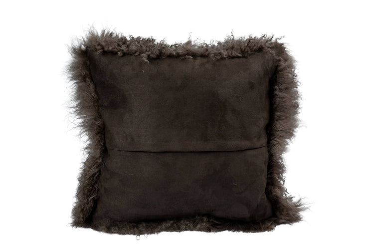 Nordvek mongolian sheepskin cushion 9013-100 grey back