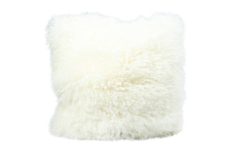 Nordvek mongolian sheepskin cushion 9013-100 white front