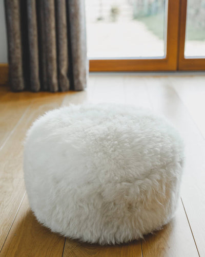 Nordvek sheepskin pouffe 9021-100 group on floor