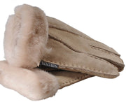 Nordvek childrens sheepskin gloves 313-100 Beige detail