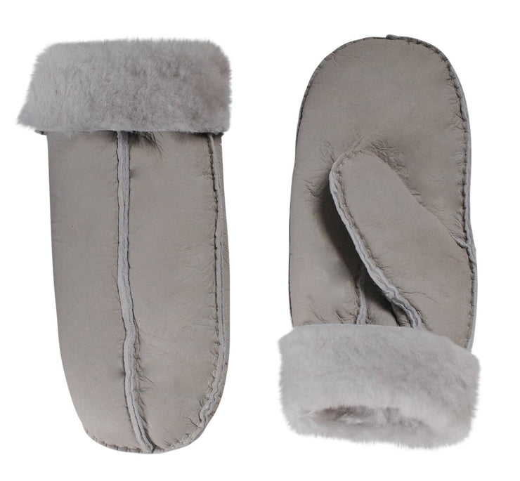 Nordvek womens sheepskin mittens 315-100 stone side by side