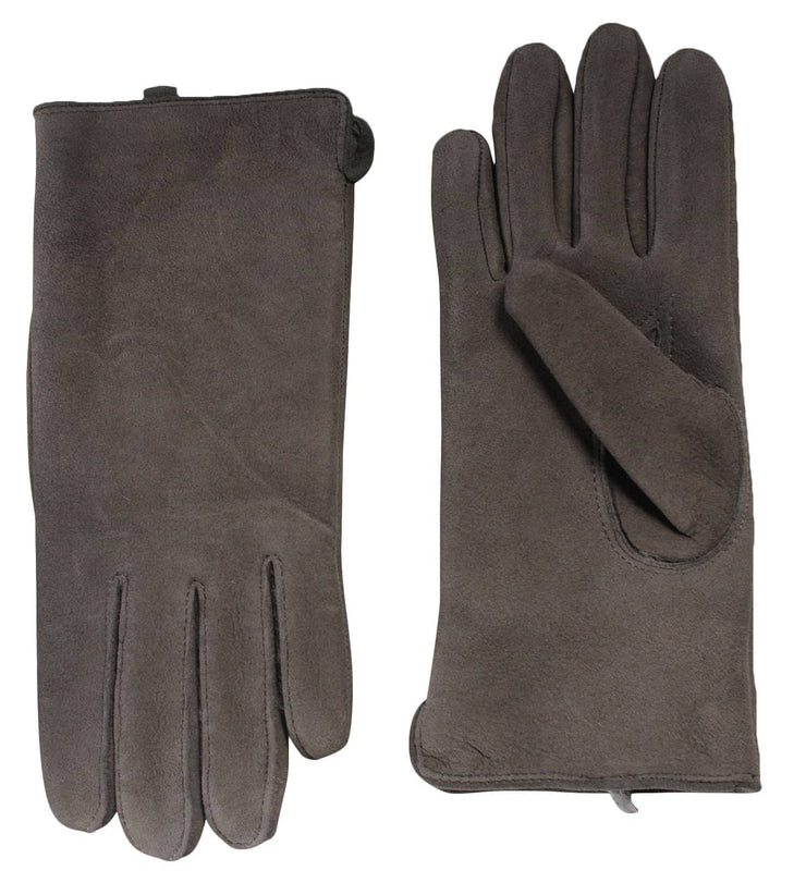 Nordvek womens sheepkskin gloves 319-100 venetian grey side by side