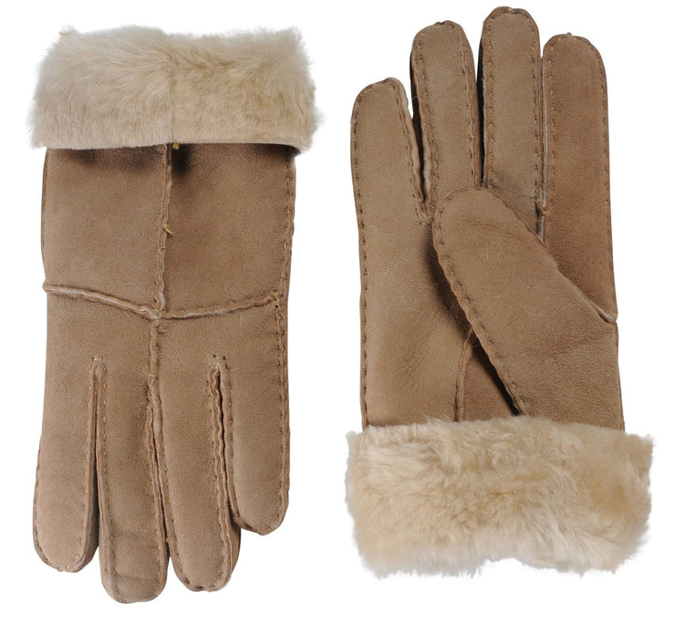 Nordvek womens sheepskin gloves sandy brown pair 321-100